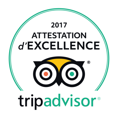 Attestation excellence 2017 tripadvisor
