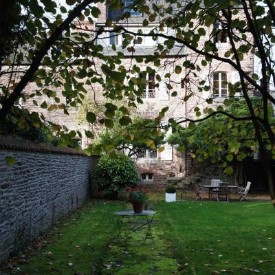 un jardin en ville hôtel particulier