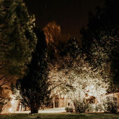 Eclairage guirlande guinguette projecteur leds blanc chaud 1