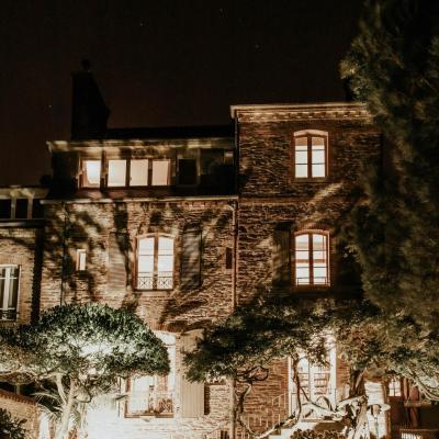 Eclairage spot leds facade maison